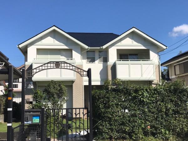 10月7日完成です。筑紫野市光が丘・Y様邸 外壁塗装・屋根塗装・ベランダ防水塗装