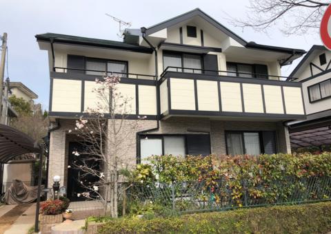 3/4完成です。太宰府市大佐野・S様邸 外壁塗装・屋根塗装工事