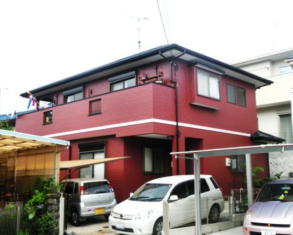 8月20日完成です。太宰府市梅が丘・K様邸 外壁塗装・屋根塗装工事