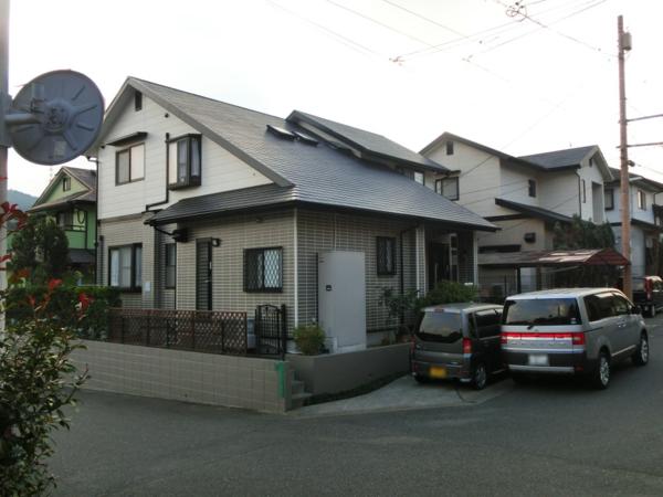 12月29日完成です。宇美町ゆりが丘・E様邸 外壁塗装・屋根塗装工事