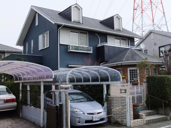 3/24完成です。筑紫野市筑紫駅前通・T様邸 外壁塗装・屋根塗装工事