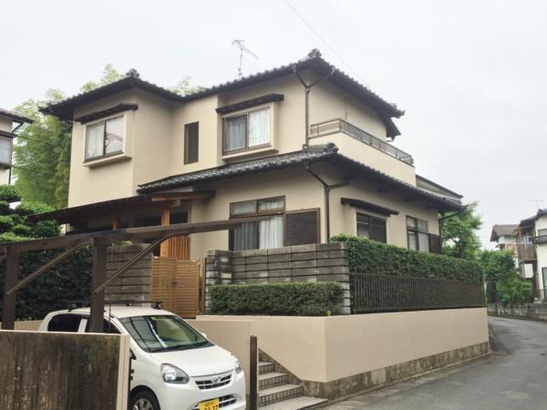5月15日完成です。筑紫野市永岡・Y様邸 外壁塗装工事