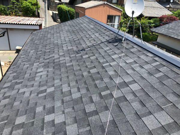 6/10完成です。須恵町大字植木・平屋5棟 屋根葺き替え工事
