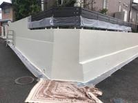 8/24完成です。筑紫野市二日市・H様邸 塀塗装工事