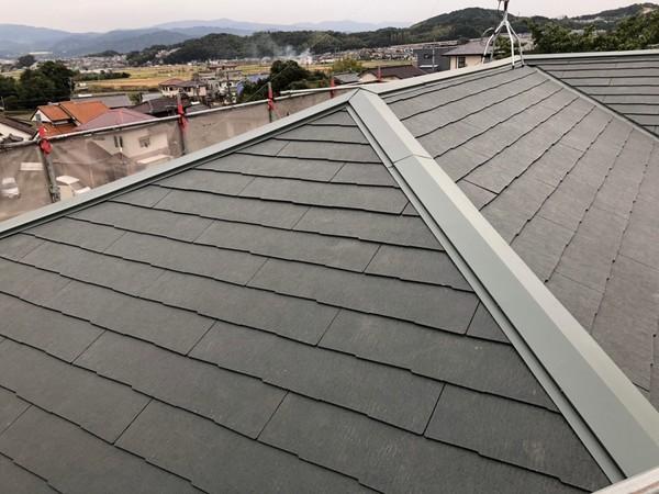 10/22完成です。筑紫野市吉木・M様邸 屋根補修工事