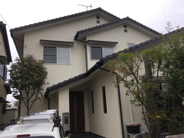 11/13完成です。福岡市博多区空港前・R様邸 外壁塗装工事