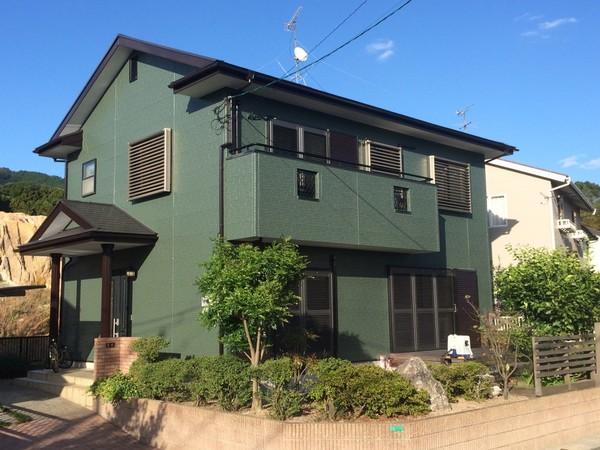 10月26日完成です。太宰府市坂本・O様邸 外壁塗装・屋根塗装工事