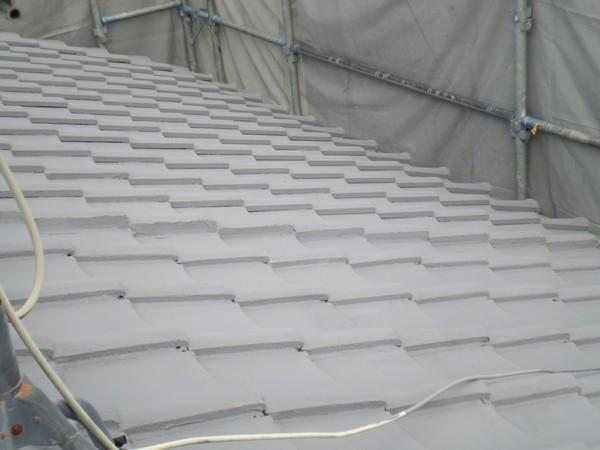 9/7完成です。太宰府市都府楼南・M様邸 屋根塗装工事
