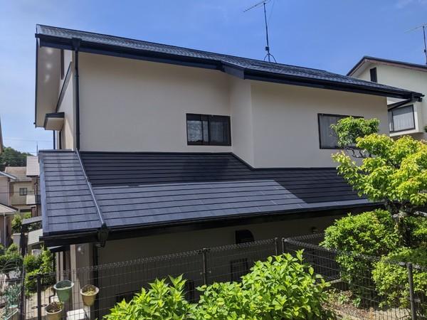 5/14完成です。那珂川市恵子・S様邸 外壁塗装・屋根塗装工事