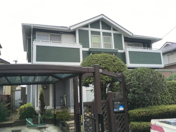 12/25完成です。筑紫野市光が丘・T様邸 外壁塗装・屋根塗装工事