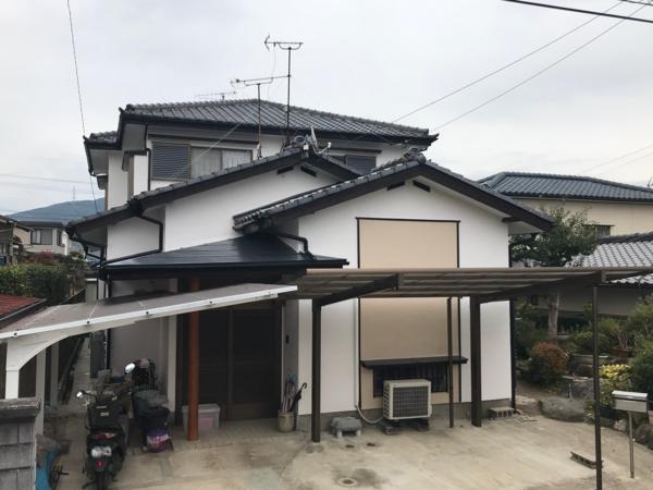 12/29完成です。筑紫野市阿志岐・M様邸 外壁塗装工事
