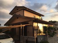 9/6完成です。太宰府市梅光園・F様邸 外壁塗装工事