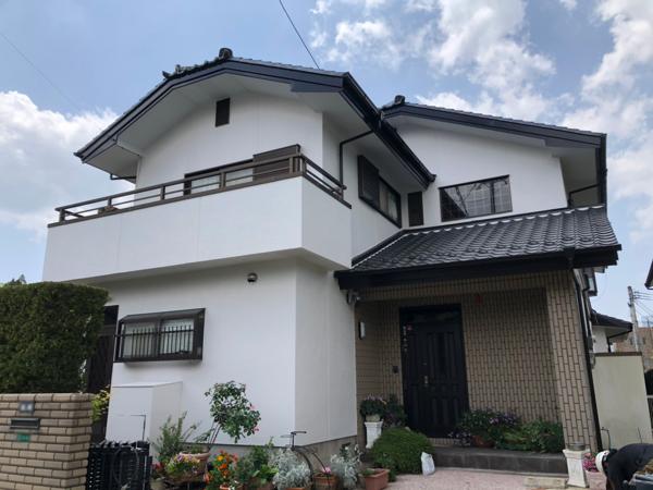 5/1完成です。太宰府市石坂・M様邸 外壁塗装工事