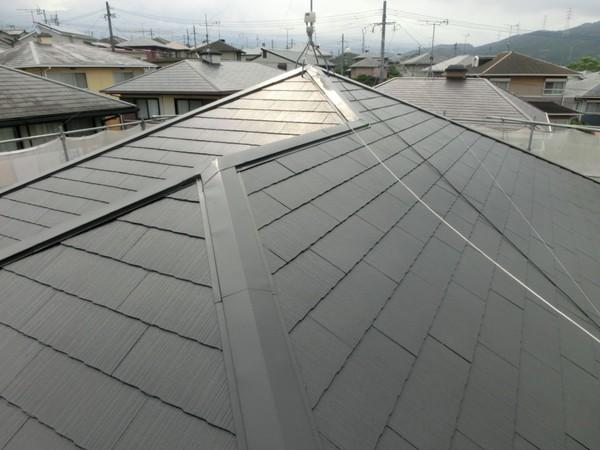 8月5日完了です。宇美町四王子坂・A様邸 屋根塗装工事