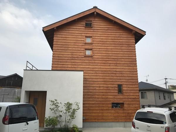 4/24完成です。太宰府市宰府・S様邸 外壁塗装工事