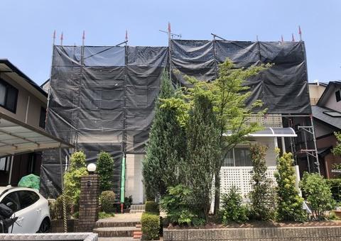小郡市美鈴が丘・N様邸 外壁塗装・屋根塗装工事 6/23着工です。