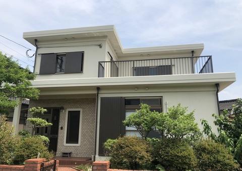 7/3完成です。筑紫野市吉木・O様邸 外壁塗装・防水塗装工事