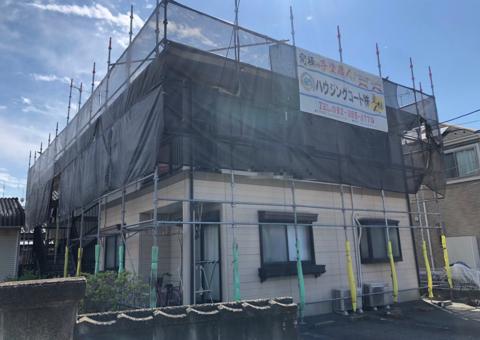 大野城市筒井・Hハイツ様 屋根塗装工事 6/23着工です。