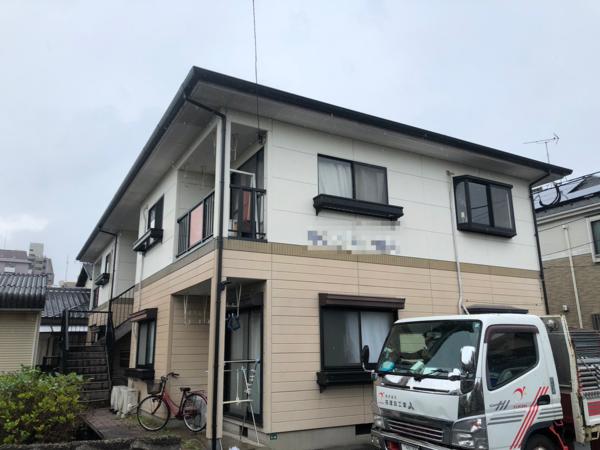 7/3完成です。大野城市筒井・Wハイツ様 屋根塗装工事