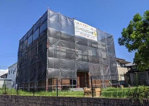 佐賀県三養基郡基山町・K様邸 外壁塗装・防水塗装工事 7/28着工です。
