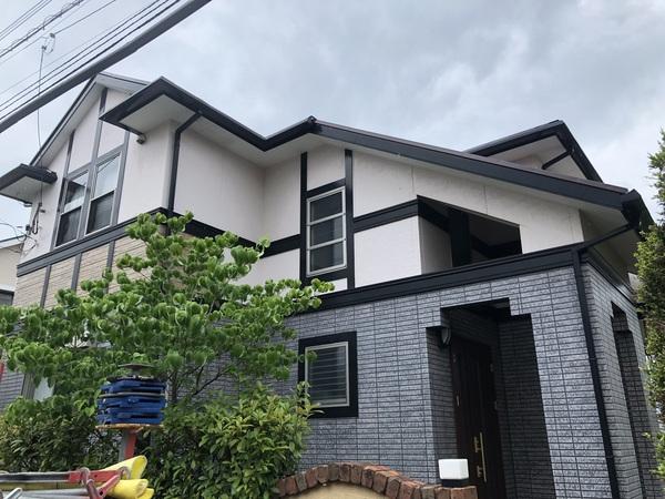 7/3完成です。筑紫野市杉塚・Y様邸 屋根塗装工事
