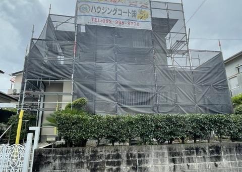 筑紫野市永岡・T様邸 外壁塗装・屋根塗装工事 7/6着工です。