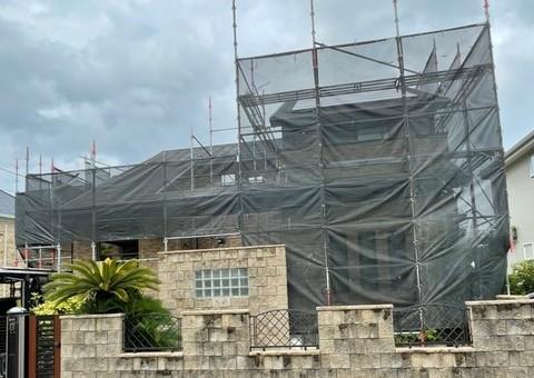 太宰府市向佐野・T様邸 外壁塗装・屋根塗装工事 7/8着工です。