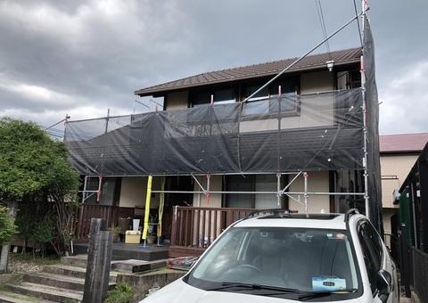 大野城市つつじが丘・M様邸 外壁塗装・屋根塗装工事 7/13着工です。