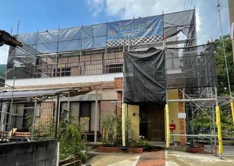 太宰府市三条・K様邸 外壁塗装工事 7/15着工です。