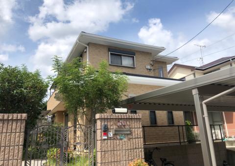 9/10完成です。春日市春日・T様邸 外壁塗装・屋根塗装工事