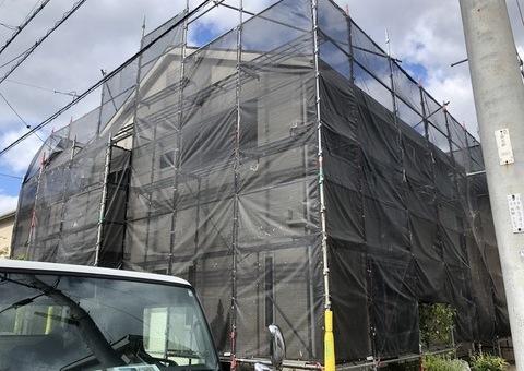 筑紫野市紫・T様邸 外壁塗装・屋根塗装工事 9/18着工です。
