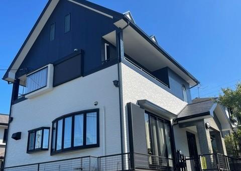 10/15完成です。大野城市つつじが丘・S様邸 外壁塗装・屋根塗装工事