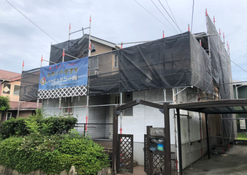 筑紫野市光が丘・F様邸 外壁塗装・屋根塗装工事 9/10着工です。