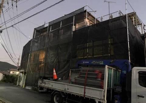 太宰府市高雄・K様邸 外壁塗装・防水工事 10/6着工です。
