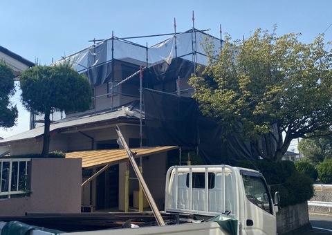 太宰府市水城・S様邸 外壁塗装・屋根塗装工事 10/5着工です。